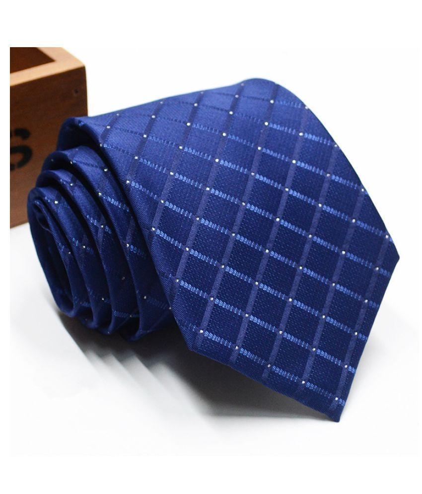 Levaso Blue Stripes Polyester Necktie