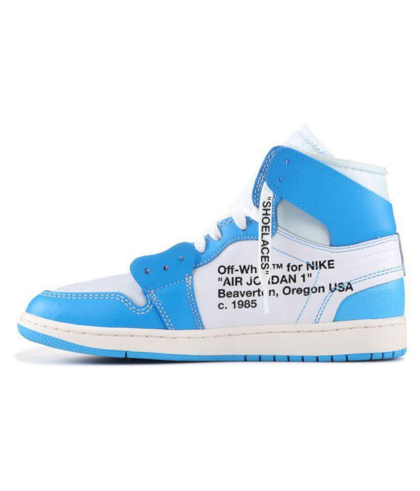 purchase cheap 8803c 5685c Nike NIKE JODAN 1 RETRO OFF-WHITE Blue Basketball Shoes