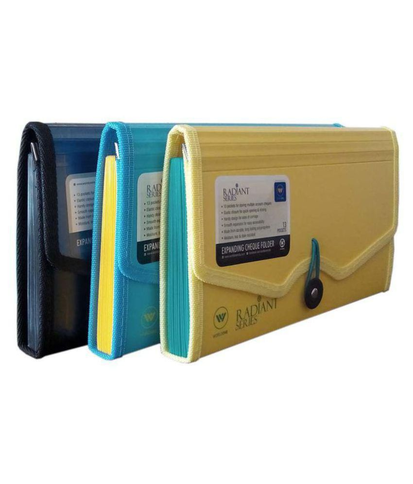 Worldone Expanding Cheque Book Folder Set of 3