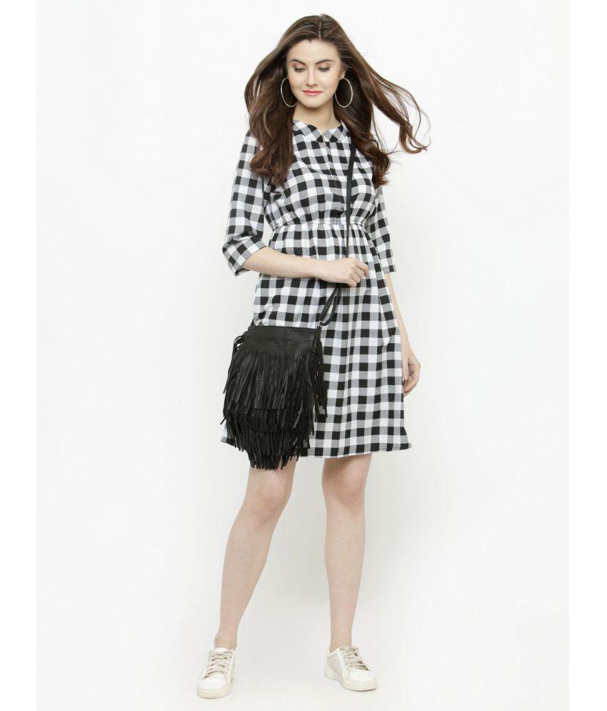 88c4b60157 Sera Polyester White A- line Dress - Buy Sera Polyester White A ...