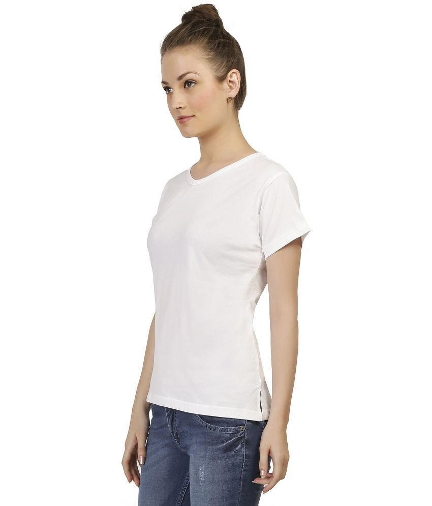 b7667ff0b4 Buy Covet Cotton White T-Shirts Online at Best Prices in India - Snapdeal