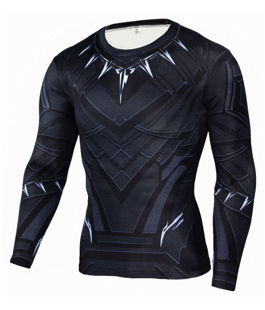 New compressed long sleeve casual 3D printed round neck  tight sport T-shirt
