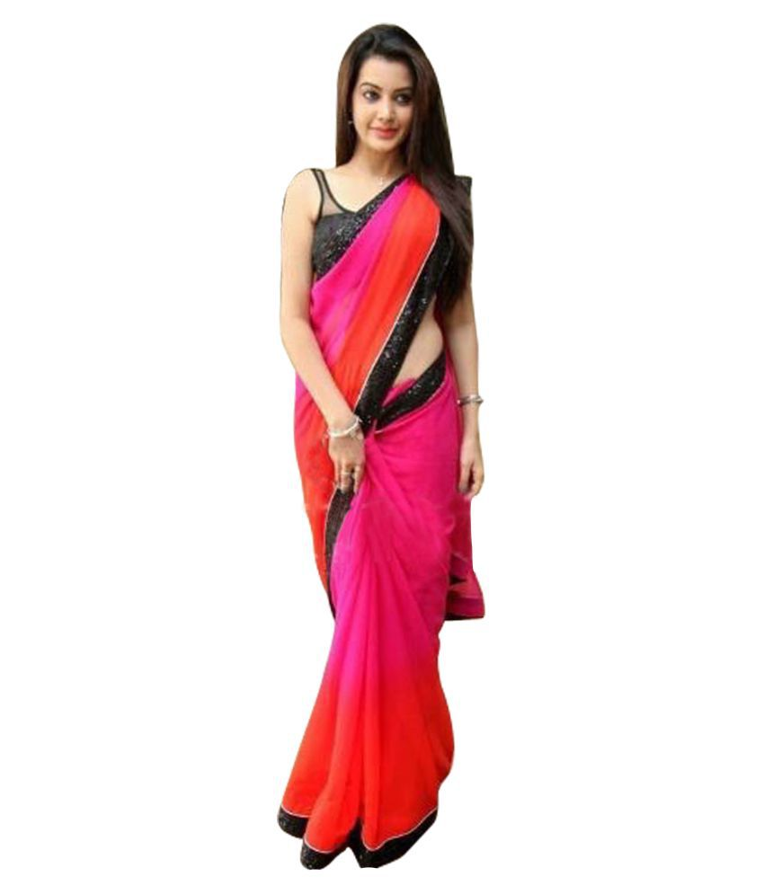 SareeFashion Multicoloured Georgette Saree
