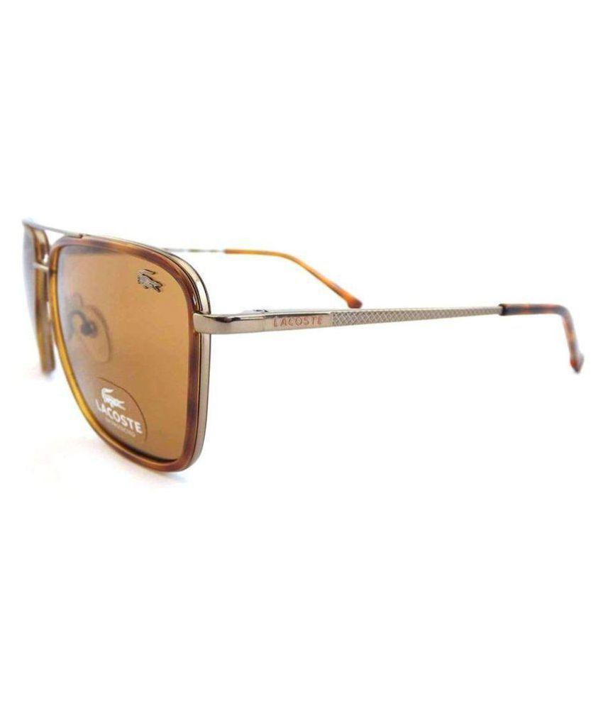 e2789f430d2f LACOSTE SUNGlASS Brown Square Sunglasses ( 001 ) - Buy LACOSTE ...