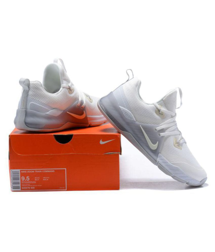 lowest price b16b6 649ef Nike Zoom Train Command Triple White Training Shoes - Buy Nike Zoom Train  Command Triple White Training Shoes Online at Best Prices in India on  Snapdeal