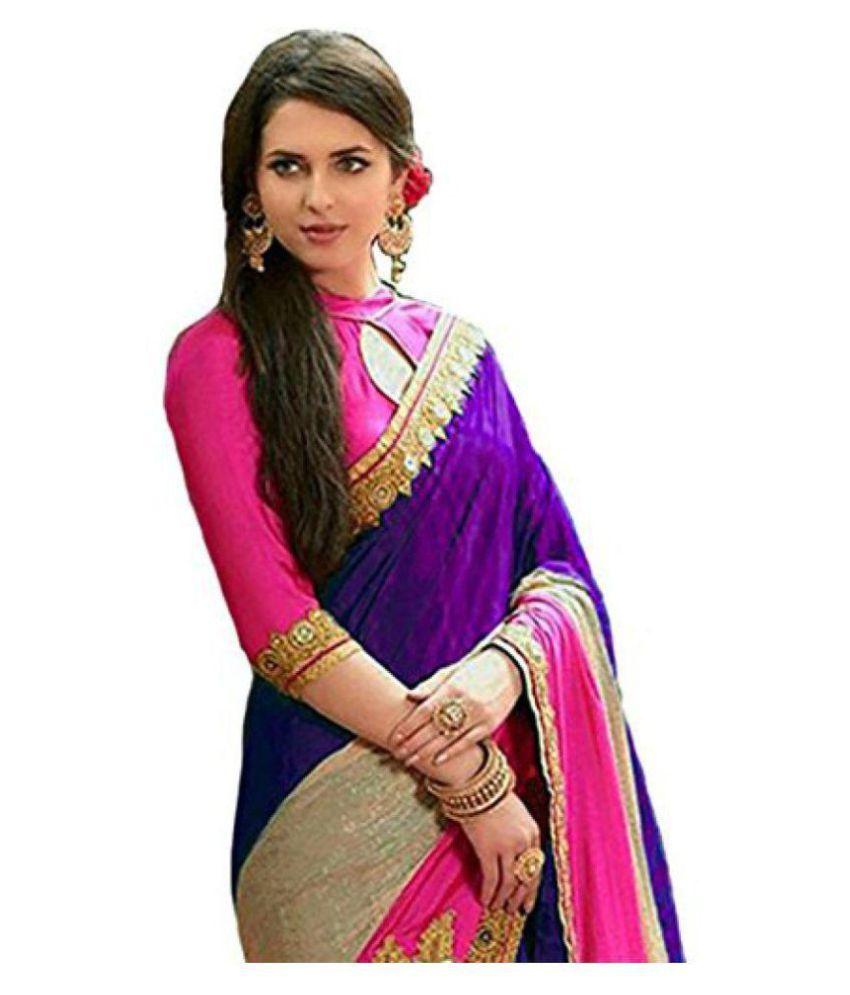 c36618982 SareeShop Designer SareeS Purple and Beige Silk Saree - Buy ...