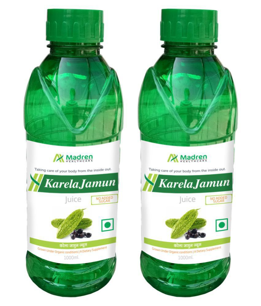 Madren Healthcare Karela Jamun 1 Ltr PACK OF 2 Health Drink 2000 ml