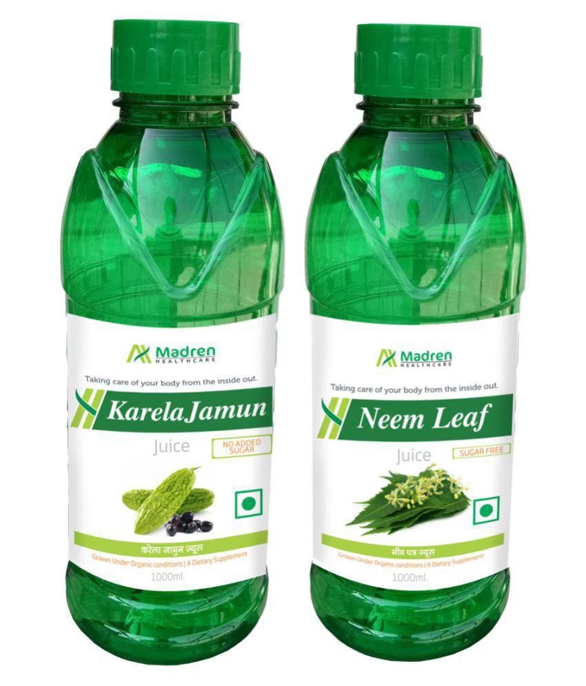 Madren Healthcare Karela Jamun & Neem Juice Health Drink 2000 ml