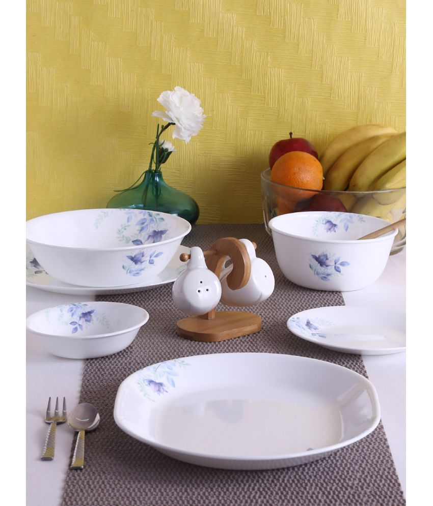Corelle 21-BFL Glass Dinner Set of 21 Pieces