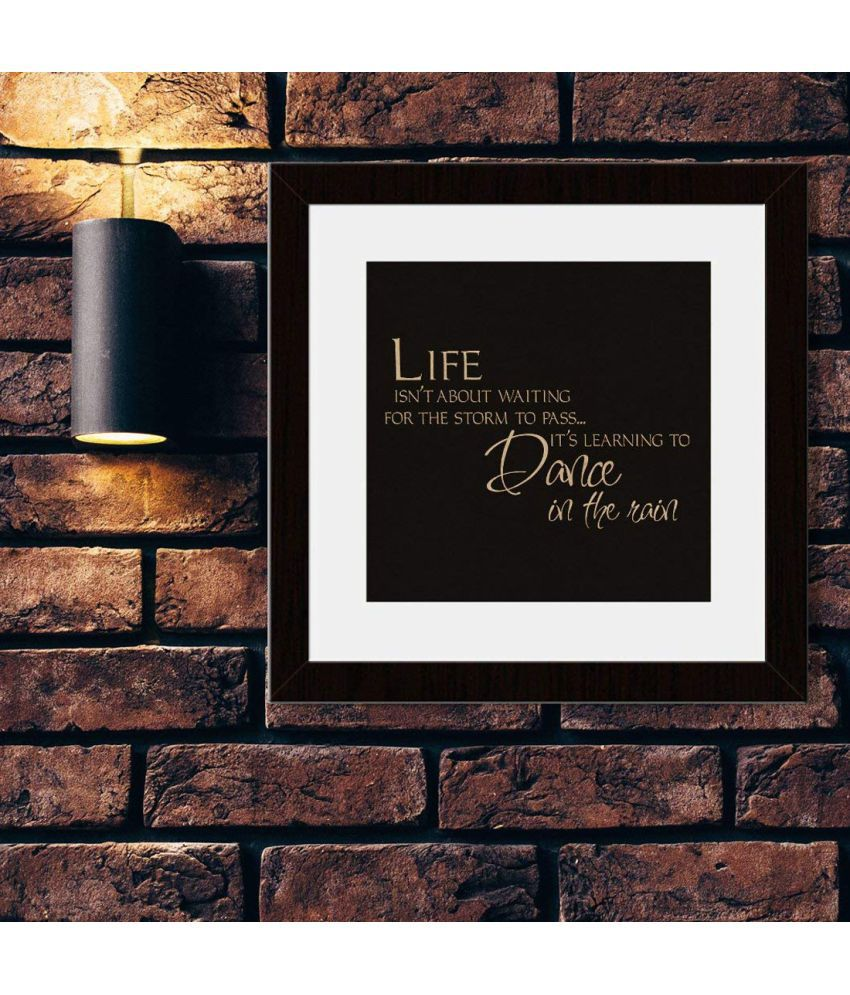 Incredible Gifts Engraved Framed Wall Quotes on Wood -Life is not about Wood Painting With Frame