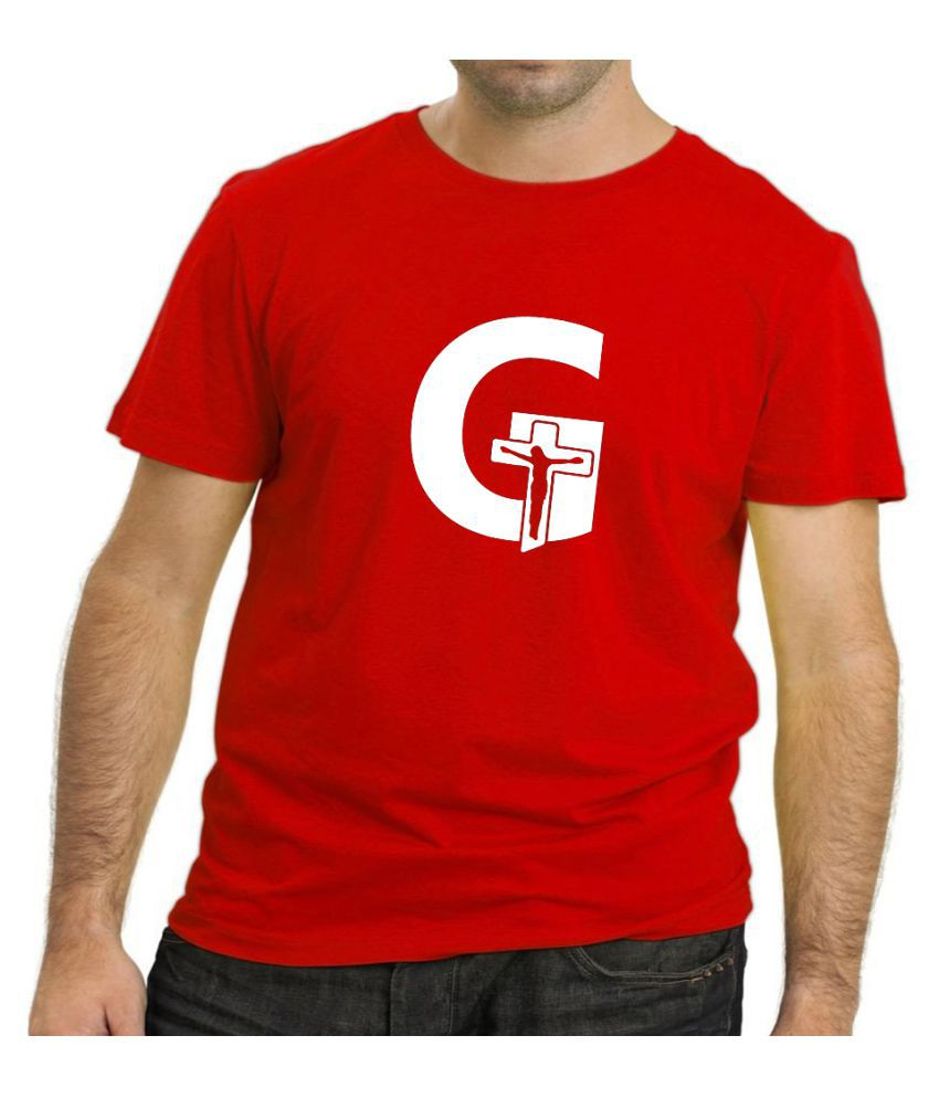 The Heyuze Haat Red Half Sleeve T-Shirt