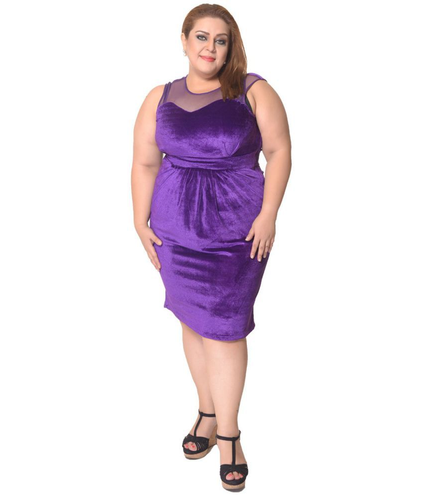 cf8ba35c3136 Trendy Divva Velvet Purple Bodycon Dress - Buy Trendy Divva Velvet Purple  Bodycon Dress Online at Best Prices in India on Snapdeal