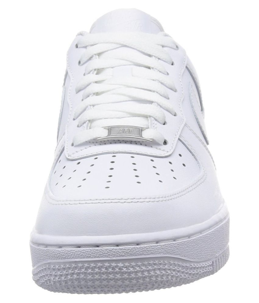 finest selection e5a93 be40d ... Nike AIR FORCE 1 White Running Shoes ...
