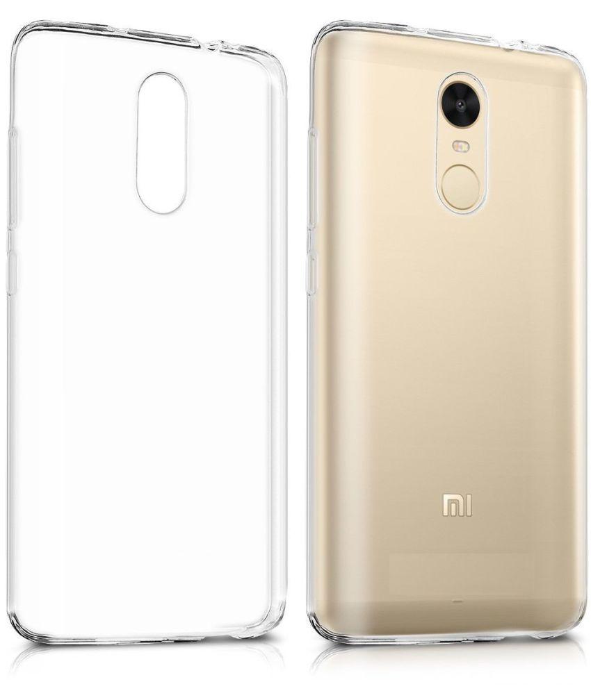 Xiaomi Redmi Note 5 Soft Silicon Cases PHONETASTIC - Transparent