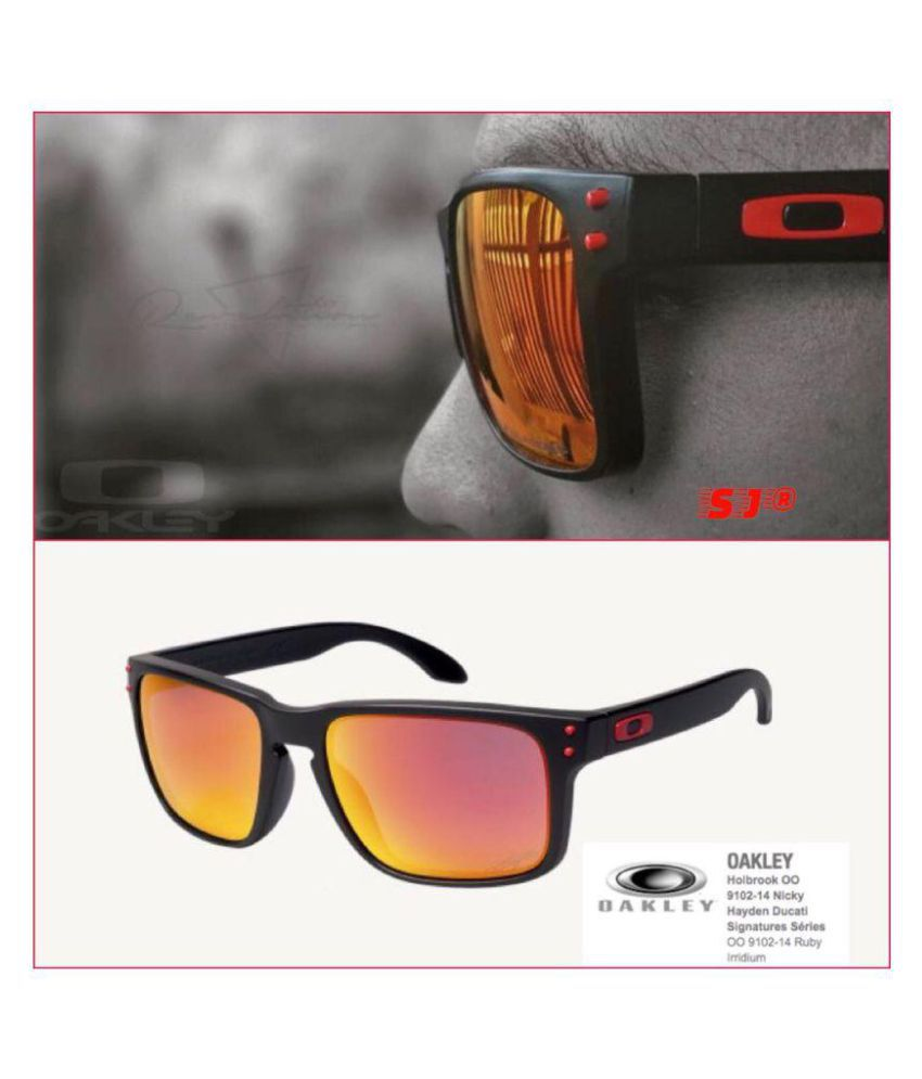 77dbe53e70 Oakley Sunglasses Orange Square Sunglasses ( 9102 ) - Buy Oakley Sunglasses  Orange Square Sunglasses ( 9102 ) Online at Low Price - Snapdeal