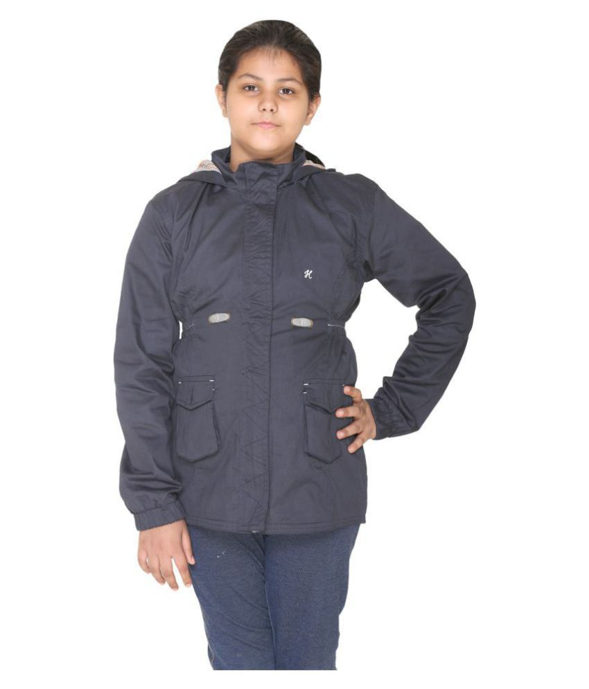 Bana Clothing Girls Navy Jacket with Hood