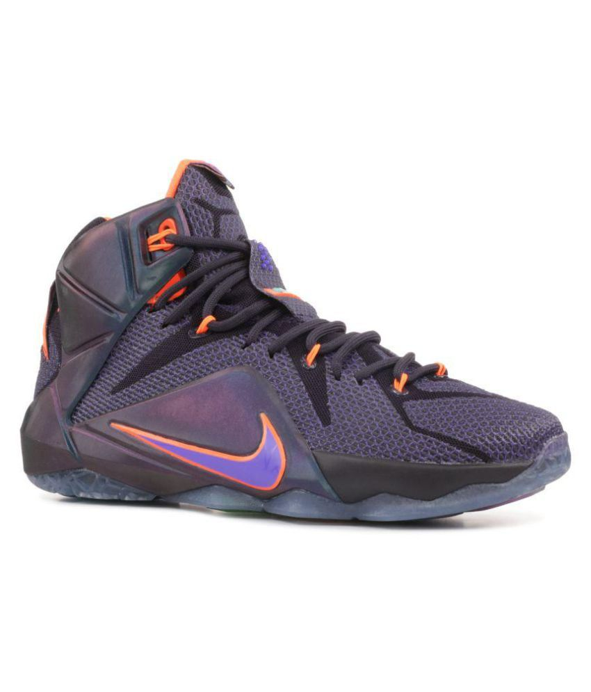 timeless design db808 02951 Nike lebron XII basketball Highankle Male Purple