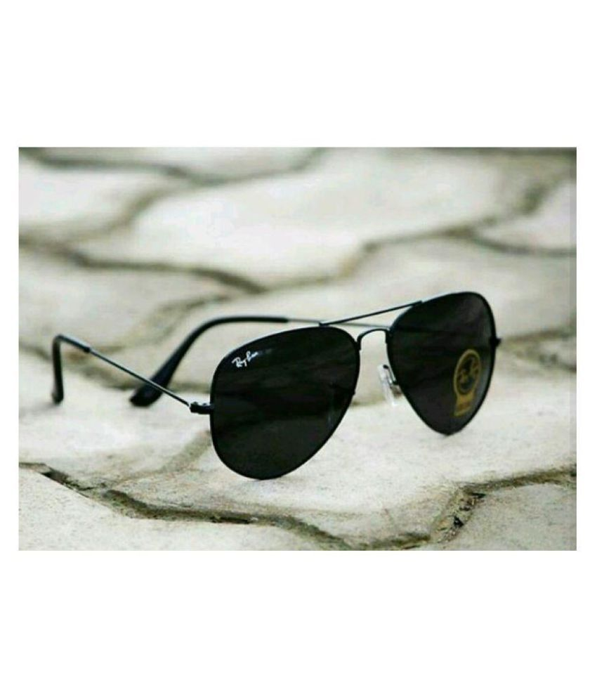 93a9cad772abb3 Ray Ban Avaitor Black Aviator Sunglasses ( sadfs ) - Buy Ray Ban Avaitor  Black Aviator Sunglasses ( sadfs ) Online at Low Price - Snapdeal