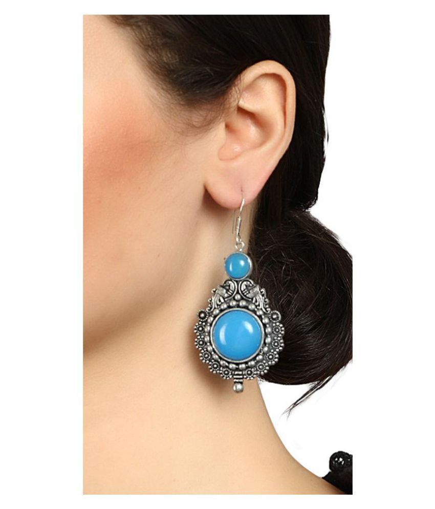Mali fionna Present Contemprory Multi Colored  Earring With Black Metal Earrings For Women/Girls