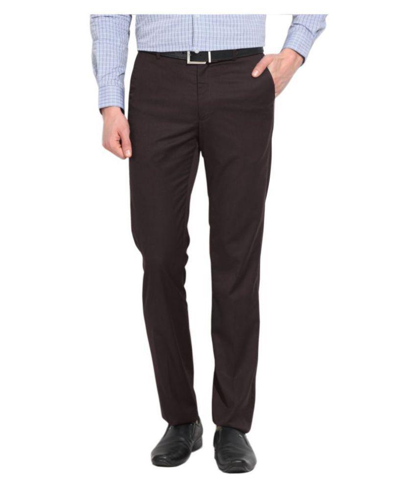 AD & AV Grey Regular -Fit Flat Trousers