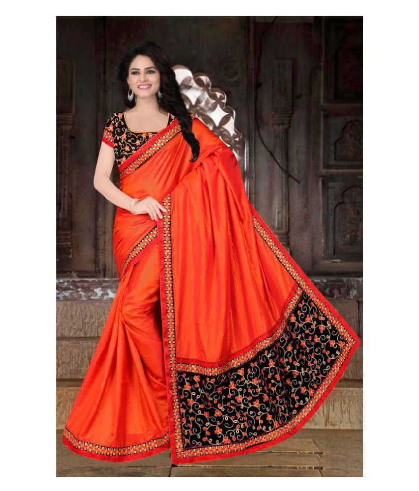 f224209ac3 LAXMIPATI FASHION Red and Orange Paper Silk Saree - Buy LAXMIPATI FASHION  Red and Orange Paper Silk Saree Online at Low Price - Snapdeal.com