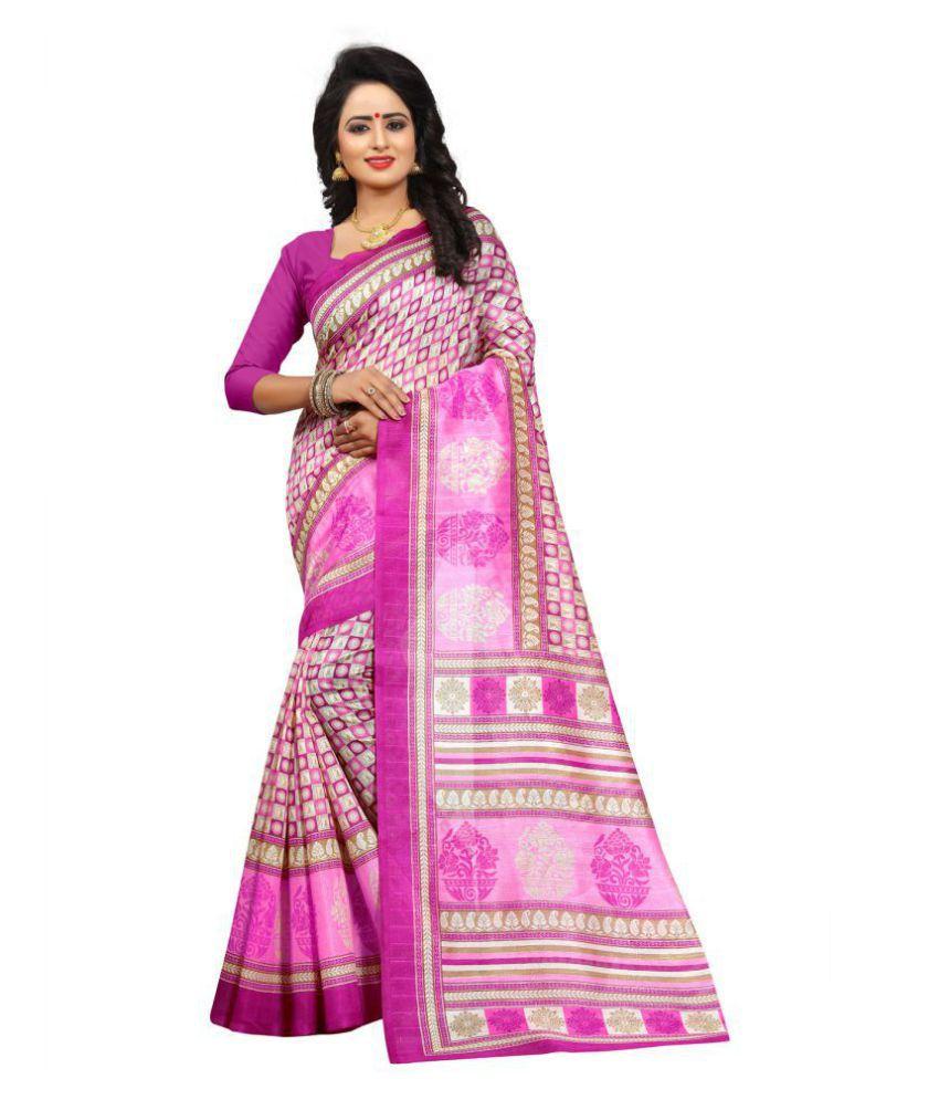 Samvegi Creation Purple Bhagalpuri Silk Saree
