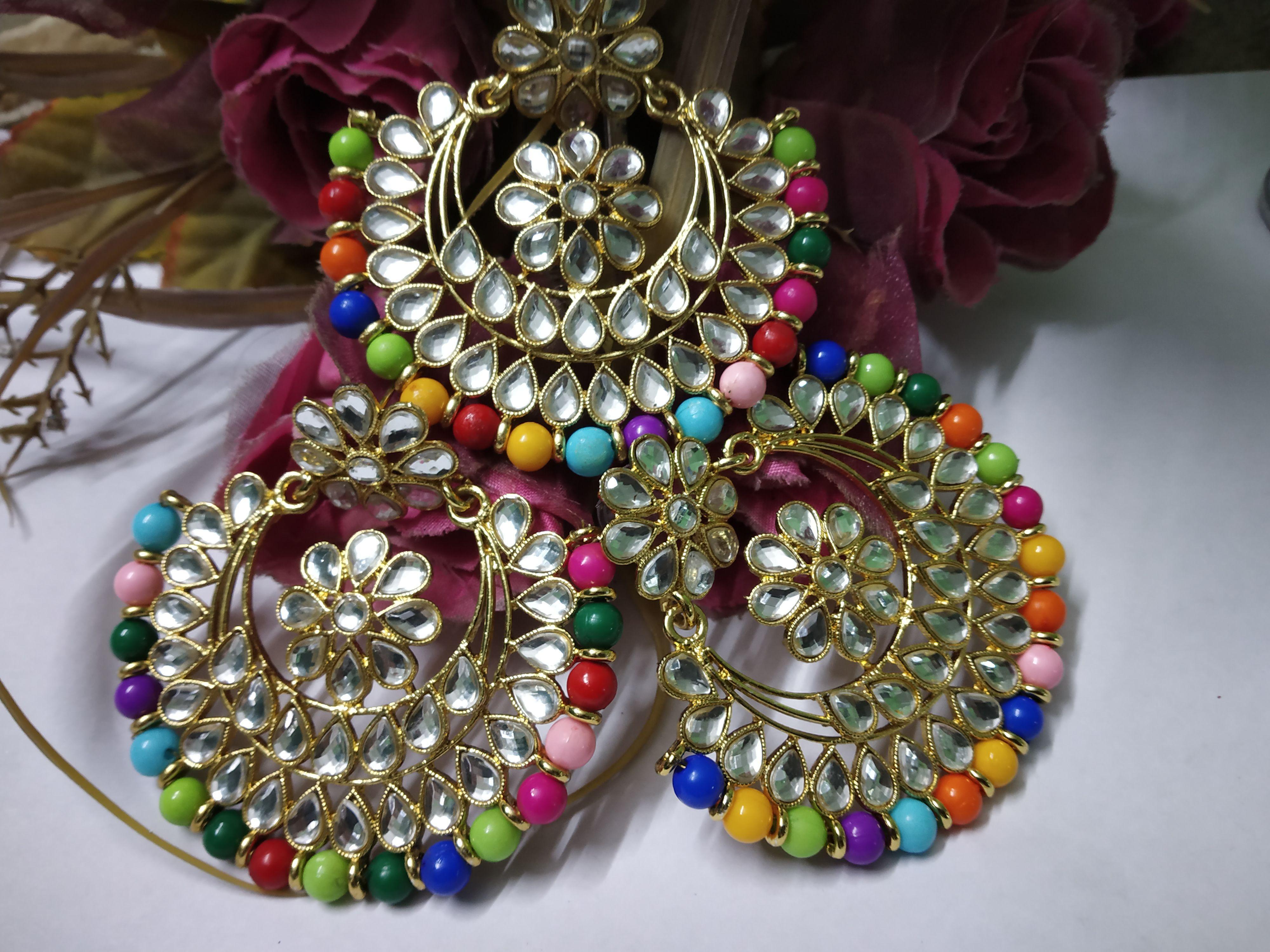 Wedding Earrings And Mang Tika Set Buy Wedding Earrings And Mang