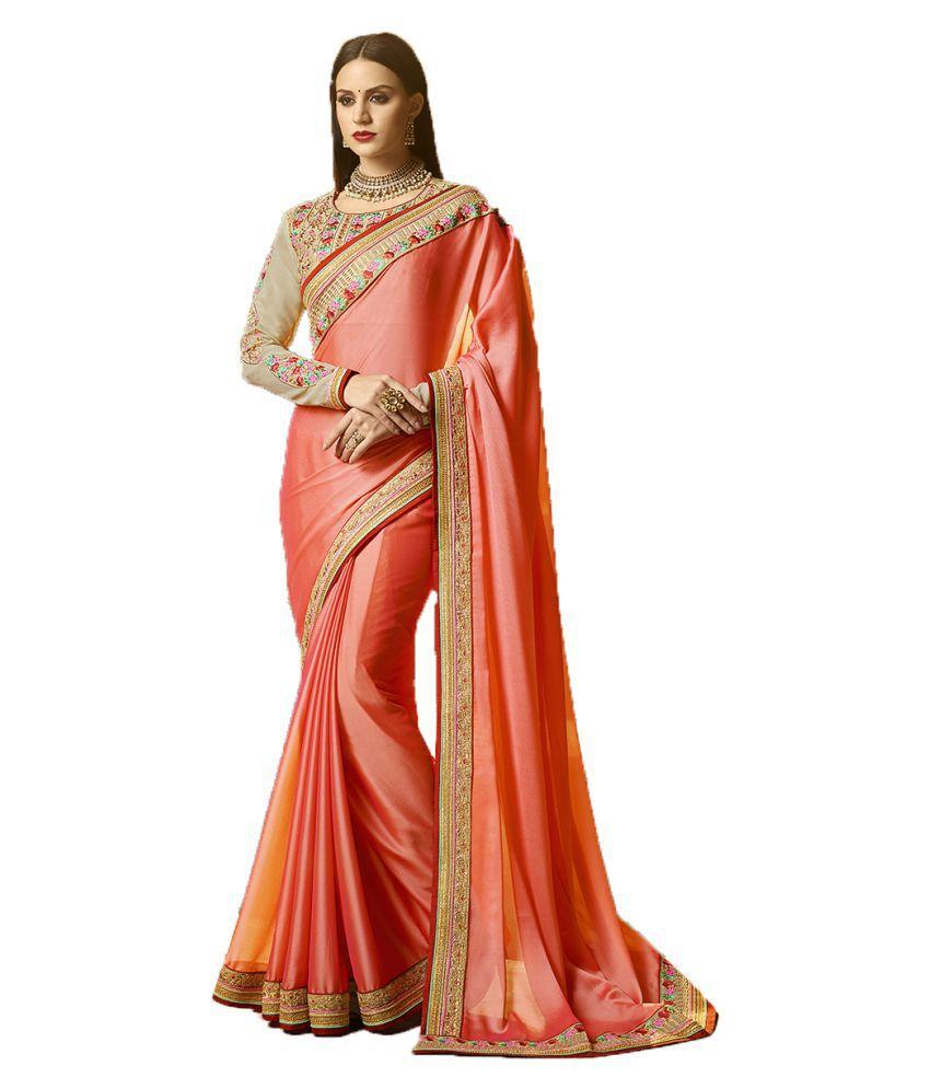 vipul fashion peach silk Saree