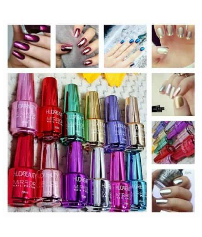 Huda Beauty Nail Polish Mirror Effect Random Color Mirror Metallic 15 ml Pack of 2