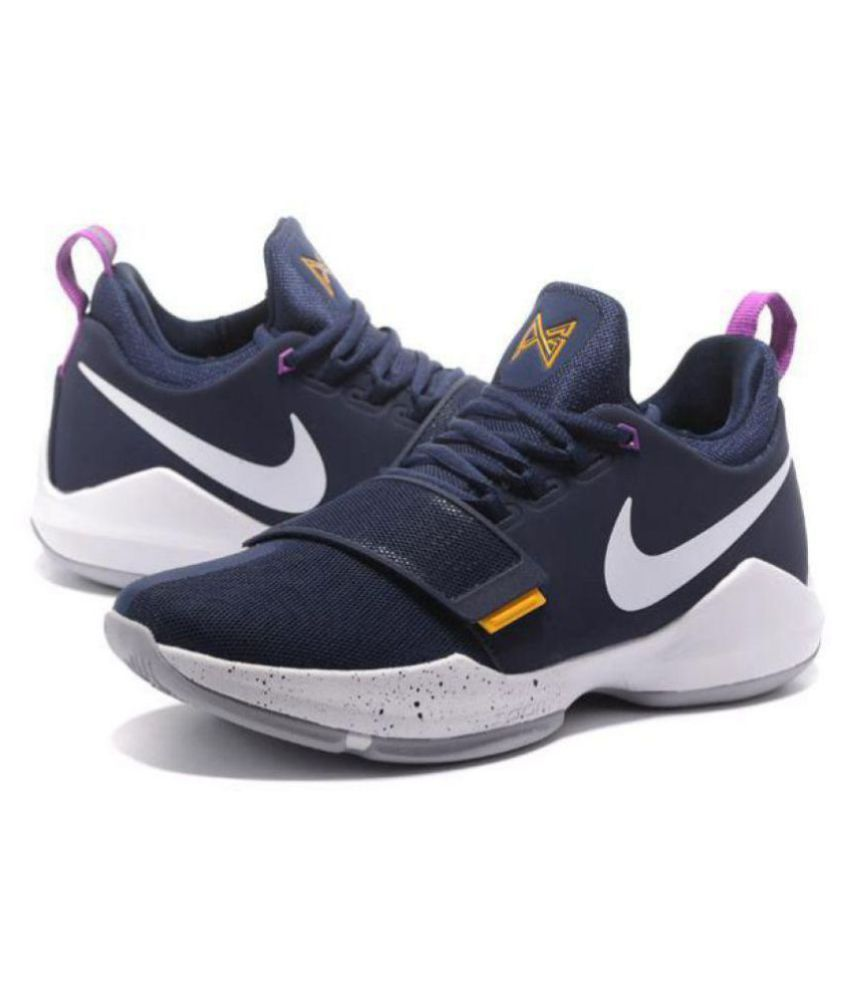 low priced fa1e9 399bf Nike PG 1 Paul George Navy Basketball Shoes
