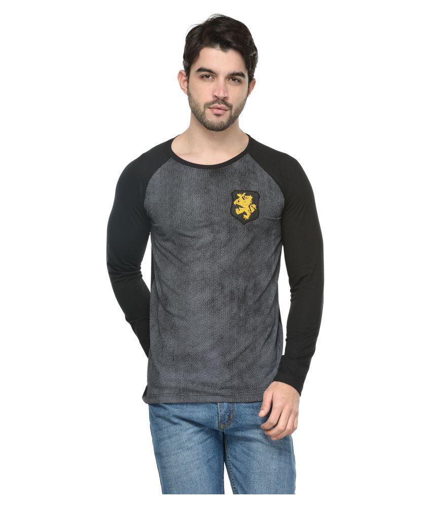 Teesort Black Full Sleeve T-Shirt