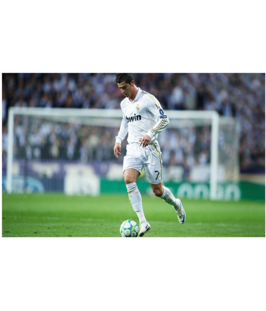 HK PRINTS Cristiano Ronaldo Paper Wall Poster Without Frame
