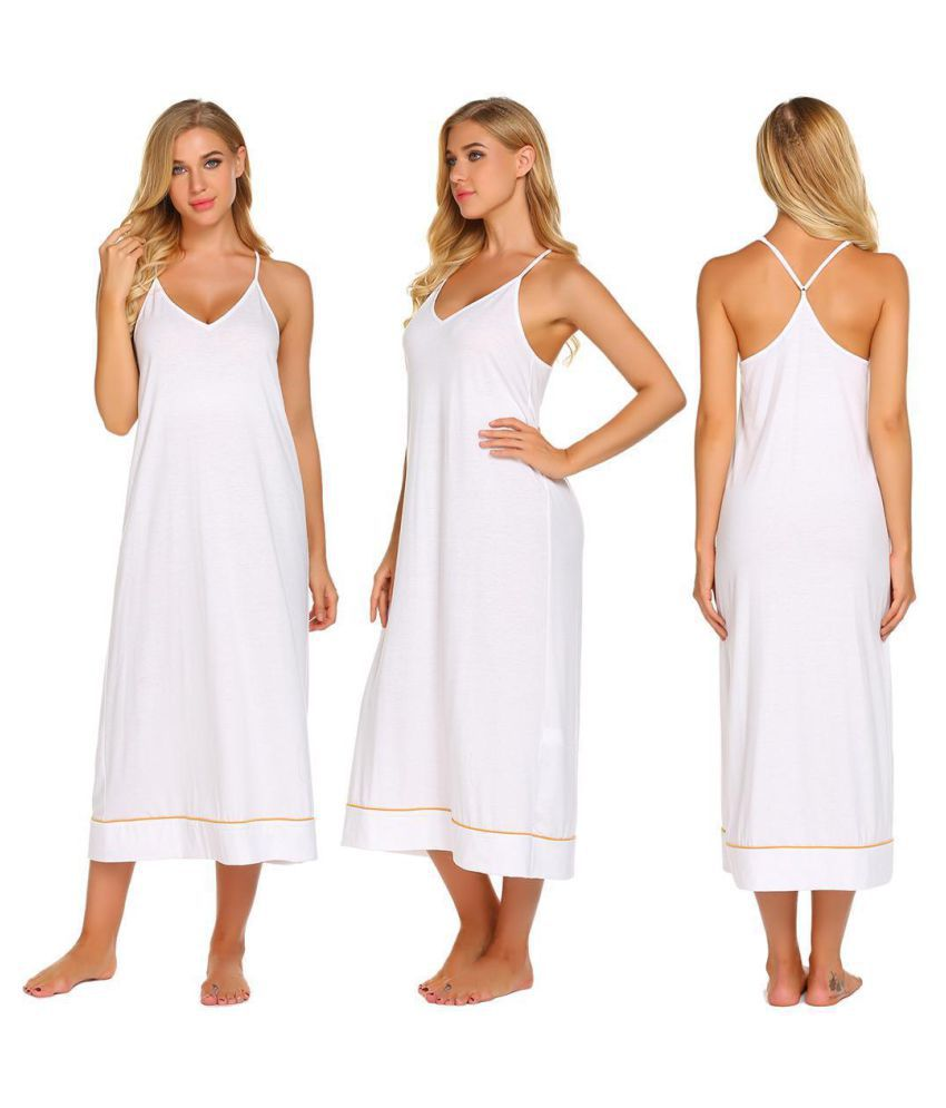 Generic Cotton Nightsuit Sets - Off White