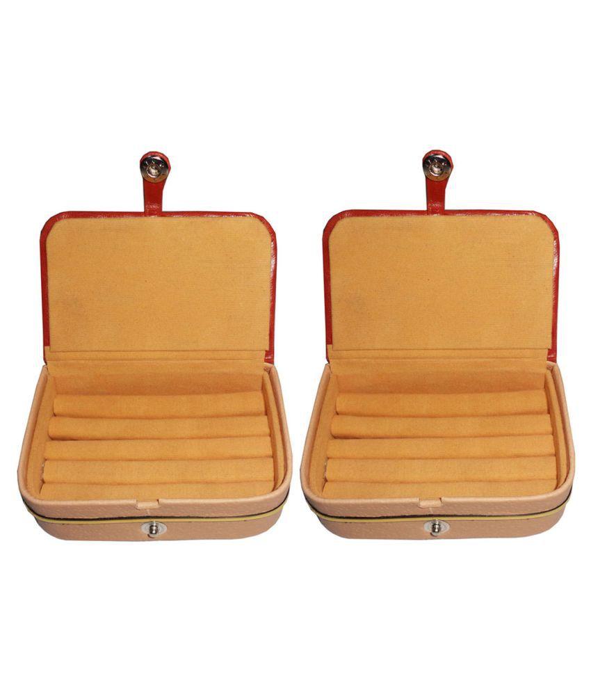 Shivansh Traders Set of 2 velvet Earring folder Ring box jewelery case ring storage ear ring travelling folder