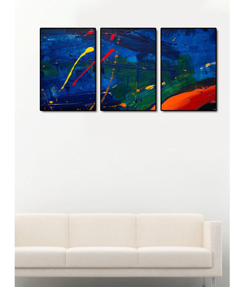 999Store    multicolor leaves  Acrylic Painting With Frame