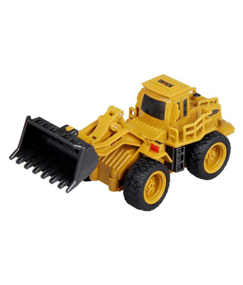 1 64 Rc Bulldozer Crane Dump Truck Construction Engineering Vehicle Off Road Music Remote Control 14 Cm Model Toys