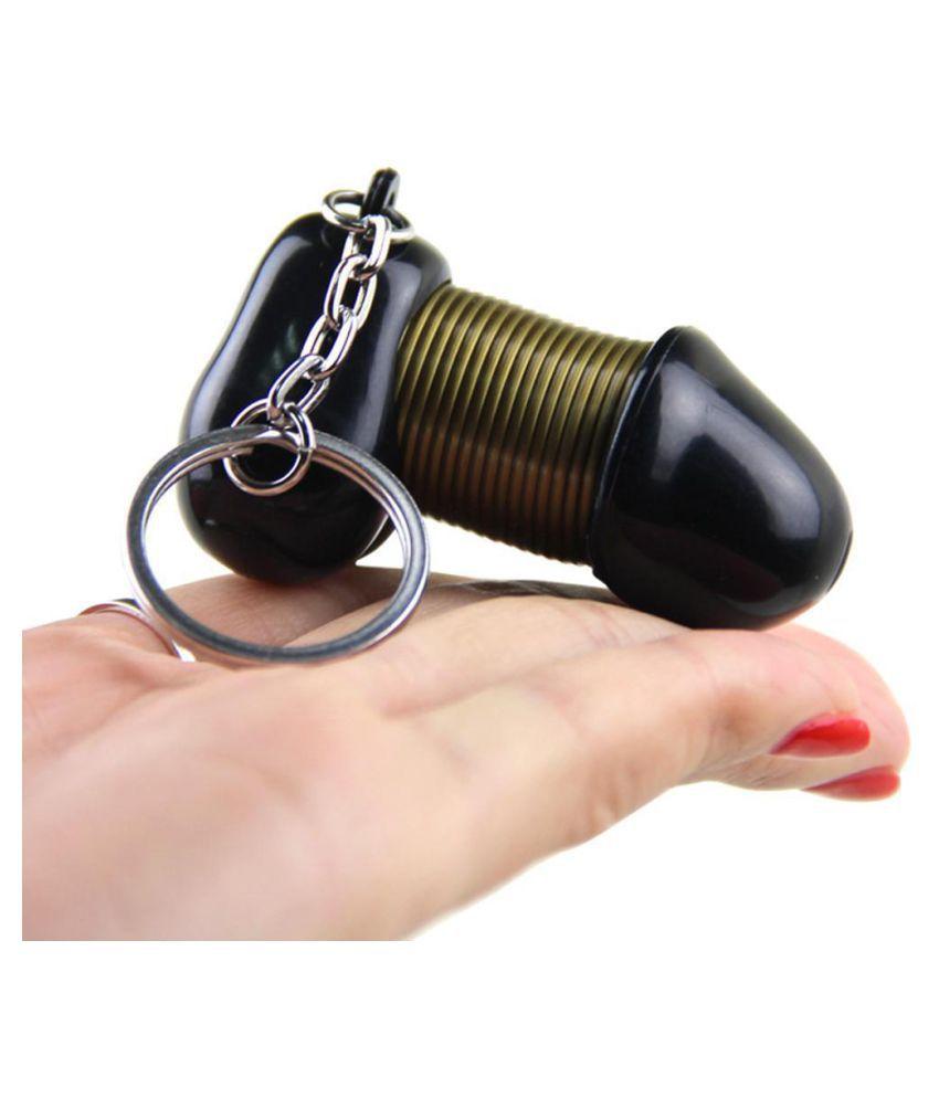 Creative Flexible Irregular Shape Key Chain Bag Decoration Keyring Holder