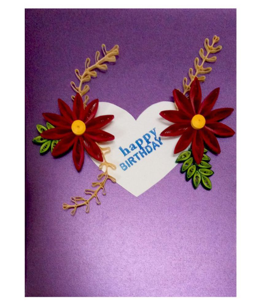 Handmade Paper Quilling Happy Birthday Greeting Card Buy Online At Best Price In India