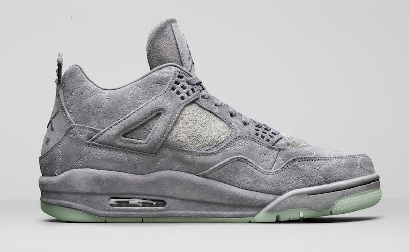 Gray Basketball Kaws Nike AIR Shoes Jordan 4 AL54Rj