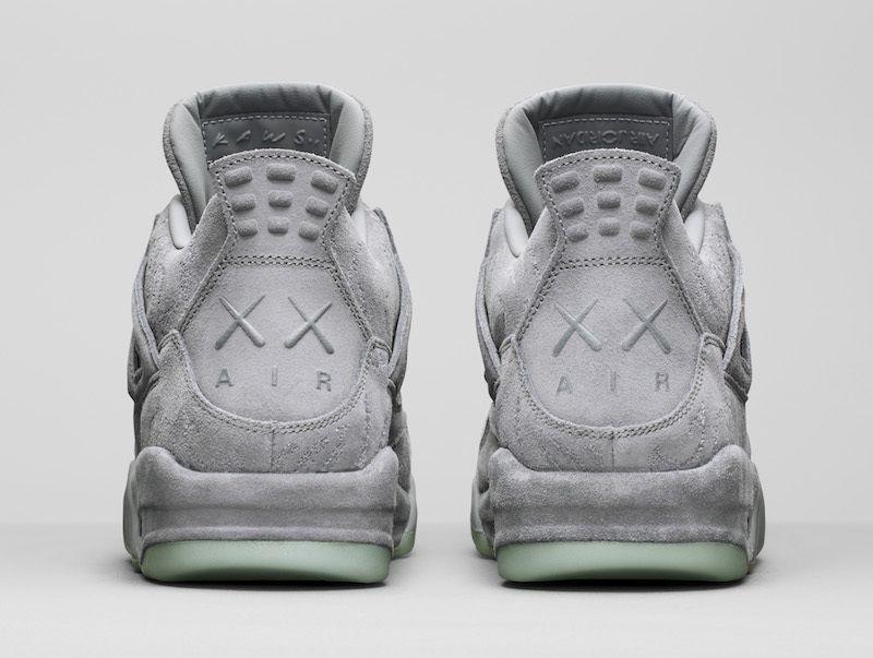 super popular 191f6 0d33d Nike AIR Jordan 4 Kaws Gray Basketball Shoes