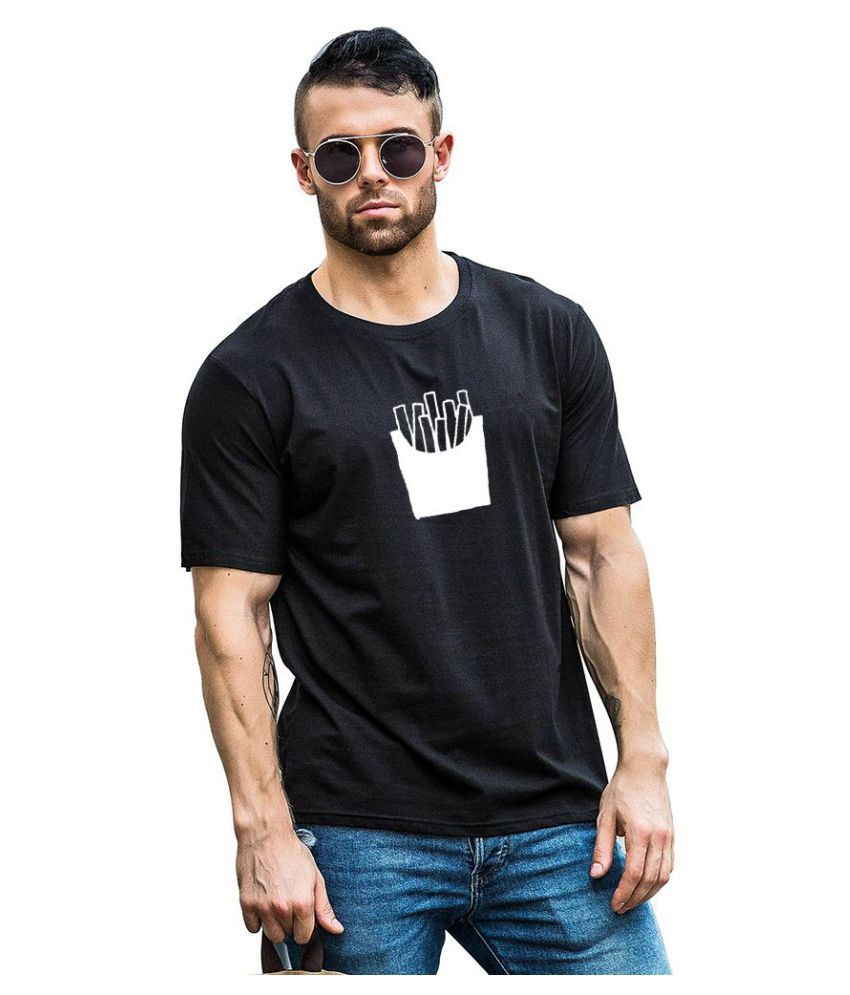 Generic black Half Sleeve T-Shirt