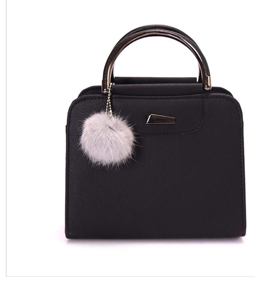 Generic black Faux Leather Shoulder Bag