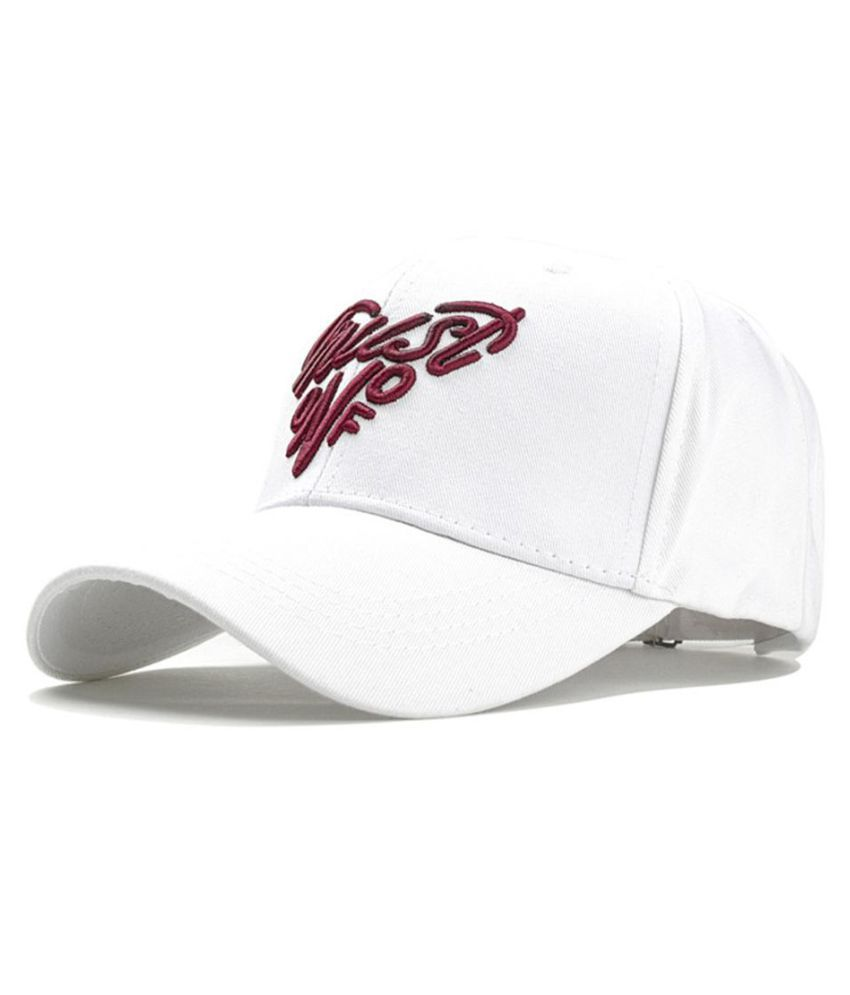 Generic white Printed Cotton Hats