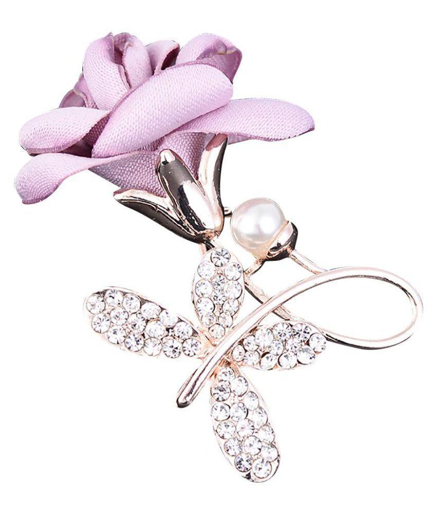 Wedding Bridal Flower Rose Brooch Women Jewelry Clothing Decoration Pin