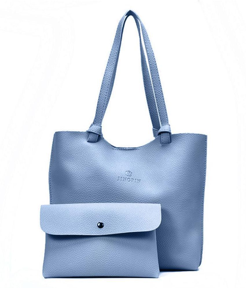 Generic blue Faux Leather Shoulder Bag