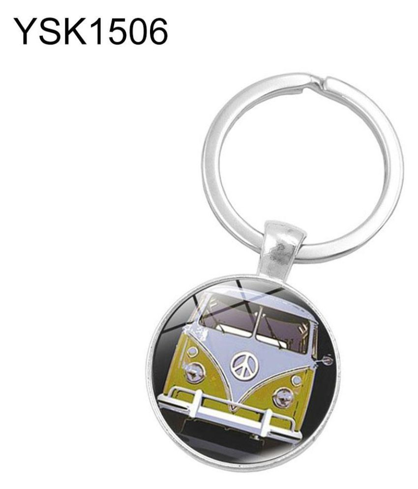 60 Anniversary Peace Symbol Pendant Keychain Key Ring Hanging Bag Car Ornament