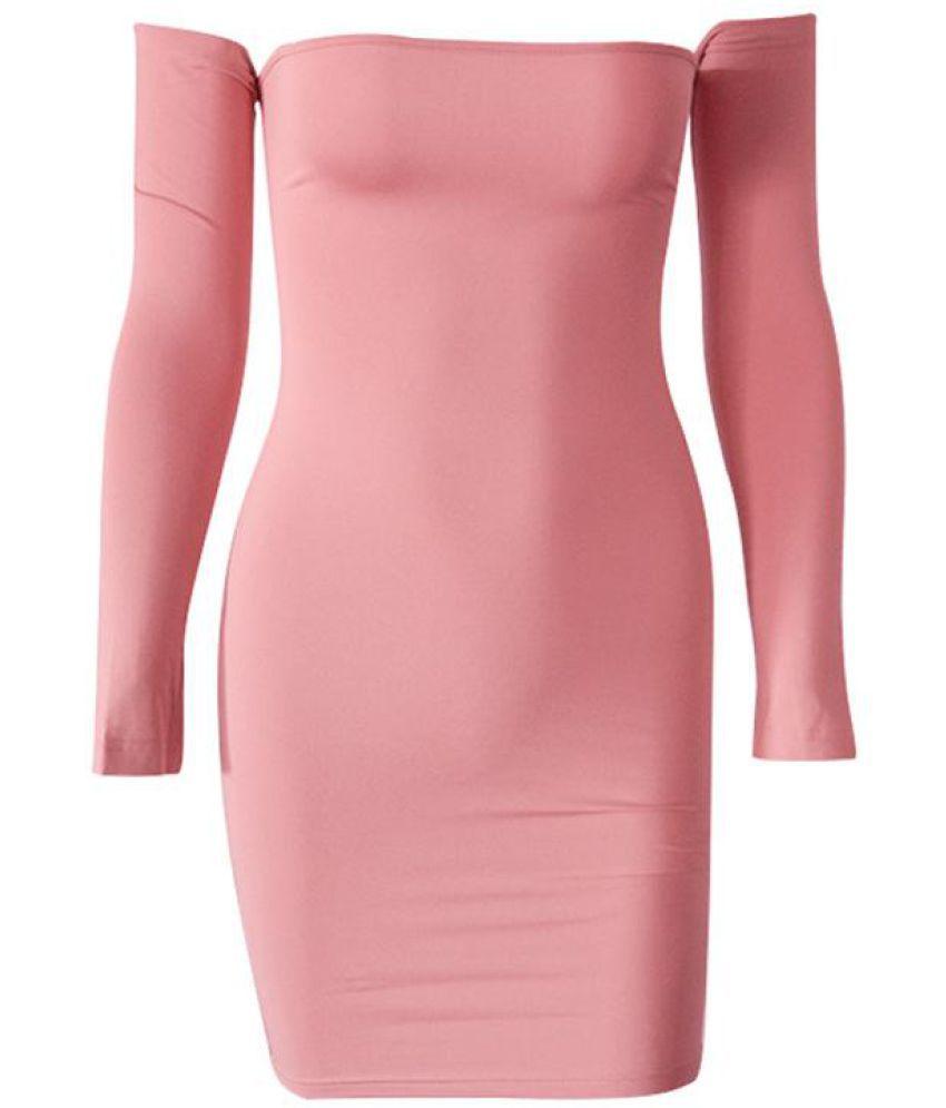 Generic Polyester pink Off Shoulder