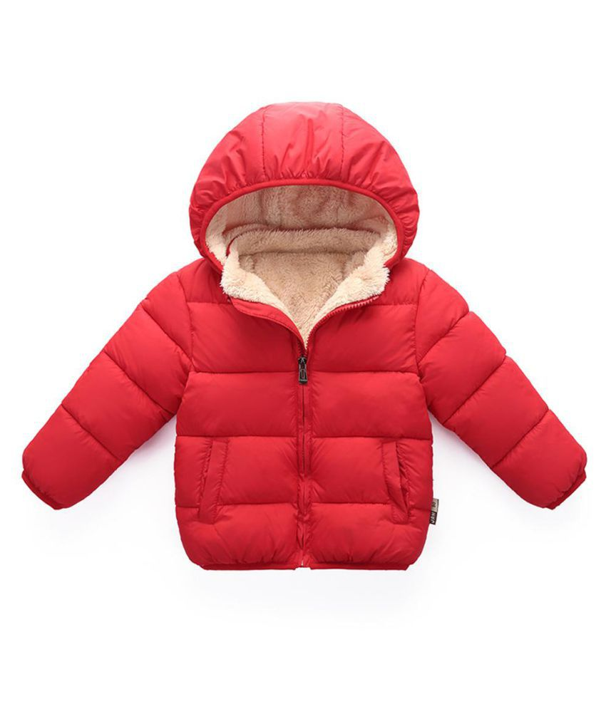Baby Boys Girls Long Sleeve Fleece Down Jacket Warm Coat Cotton Padded Outwear
