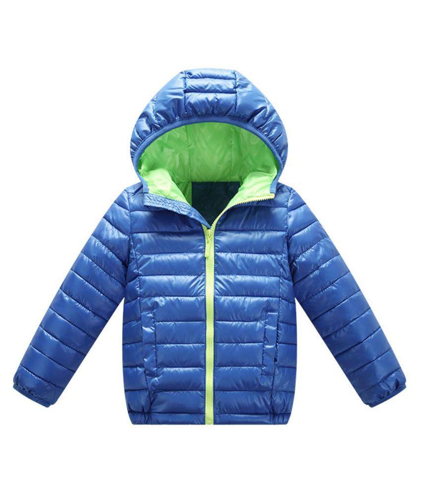 Children Kids Hooded Winter Coat Long Sleeve Girls Boys Windproof  Warm Jacket