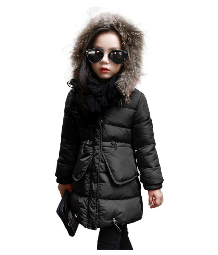 Fashion Children Girls Winter Warm Long Sleeve Zipper Padded Coat Wadded Jacket